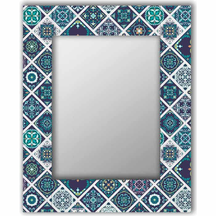 Настенное зеркало Дом Корлеоне Португальская плитка 90x90 см