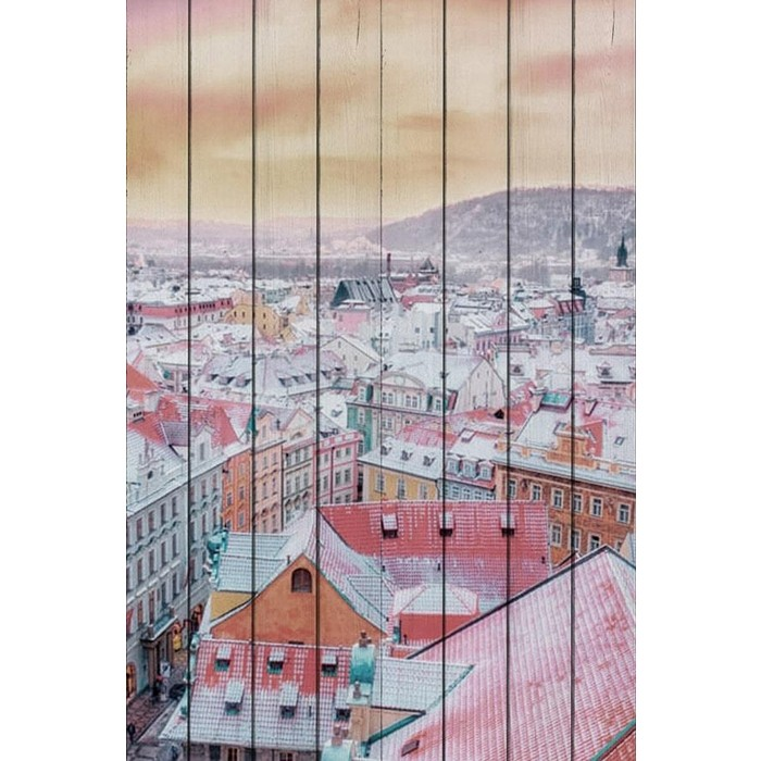 Картина на дереве Дом Корлеоне Прага 100x150 см