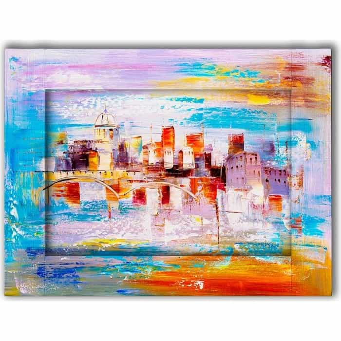 Картина с арт рамой Дом Корлеоне Прага 80x100 см