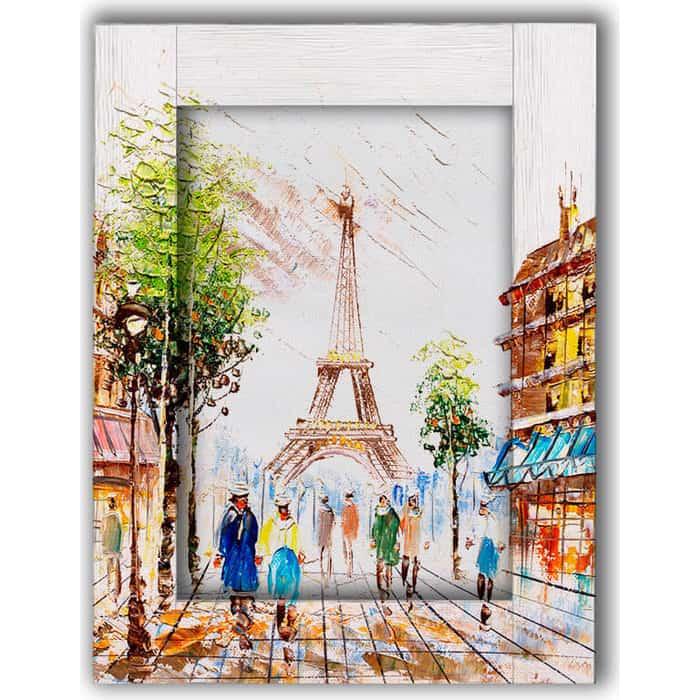 Картина с арт рамой Дом Корлеоне Прогулки по Парижу 80x100 см