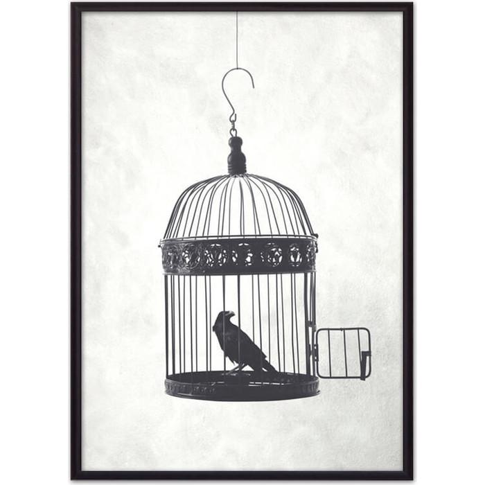 Постер в рамке Дом Корлеоне Птица клетке 50x70 см
