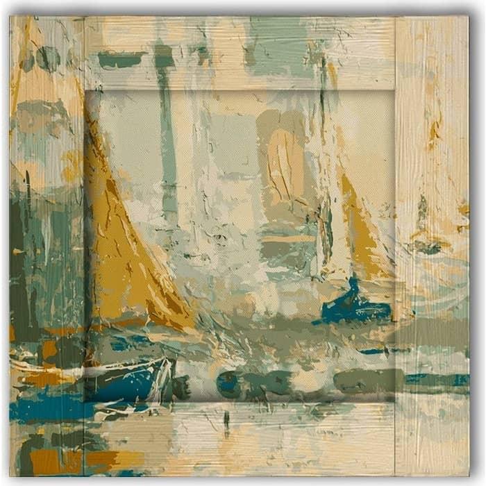 Картина с арт рамой Дом Корлеоне Регата 55x55 см настенное зеркало дом корлеоне зеленая долина 55x55 см