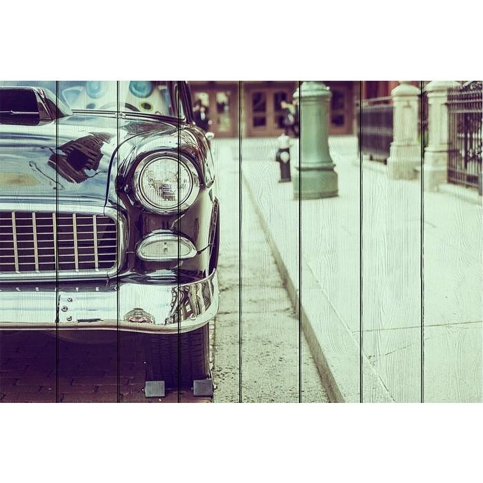Картина на дереве Дом Корлеоне Ретро автомобиль 60x90 см картина на дереве дом корлеоне долина 60x90 см