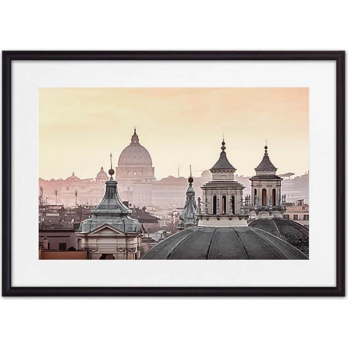 Постер в рамке Дом Корлеоне Римские крыши 50x70 см