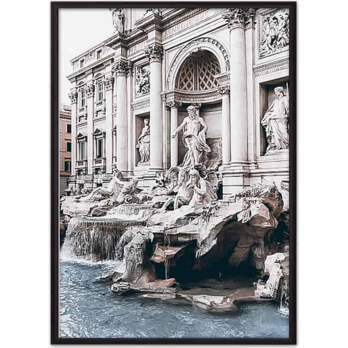 Постер в рамке Дом Корлеоне Римские окна 50x70 см