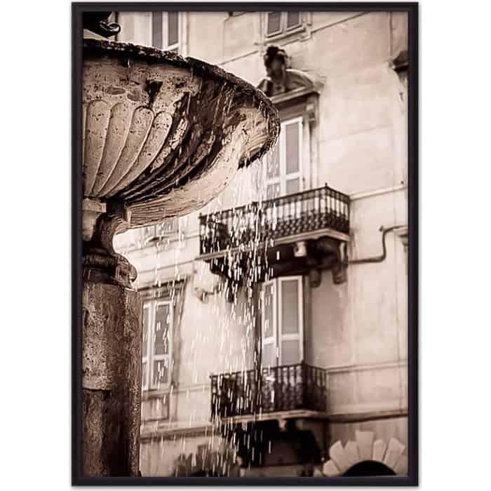 Постер в рамке Дом Корлеоне Римский фонтан 21x30 см