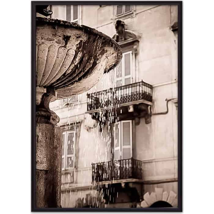 Постер в рамке Дом Корлеоне Римский фонтан 50x70 см