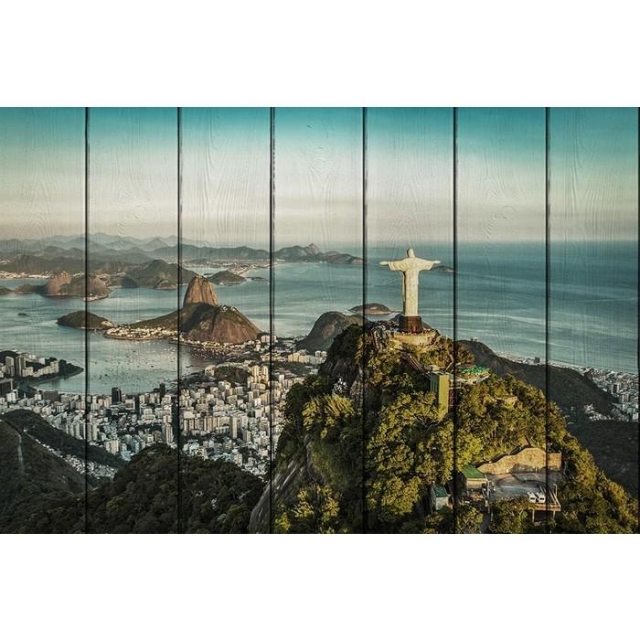 Картина на дереве Дом Корлеоне Рио-де-Жанейро 80x120 см
