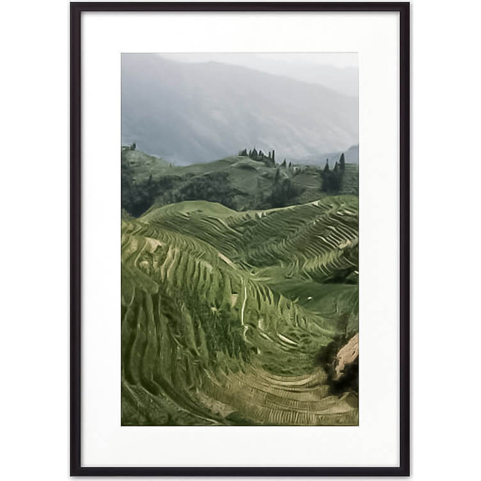 Постер в рамке Дом Корлеоне Рисовые поля 50x70 см