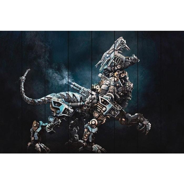 Картина на дереве Дом Корлеоне Робот Хищник 100x150 см