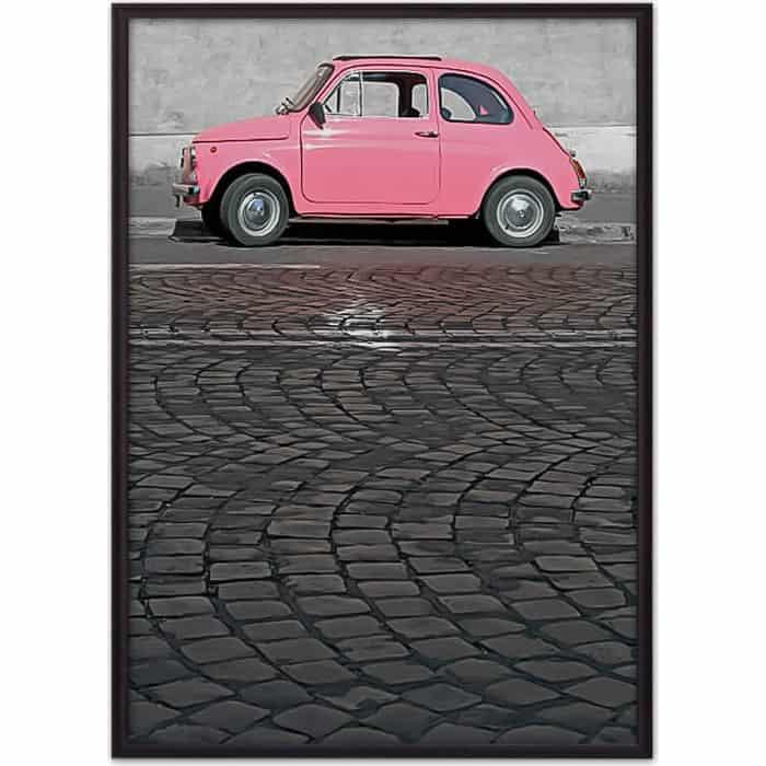 Постер в рамке Дом Корлеоне Розовый автомобиль 40x60 см