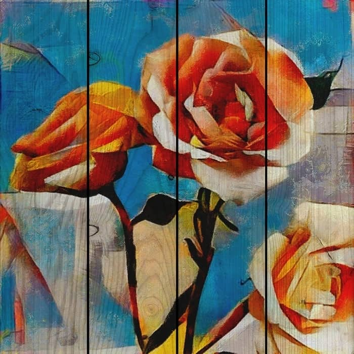 Картина на дереве Дом Корлеоне Розы 120x120 см