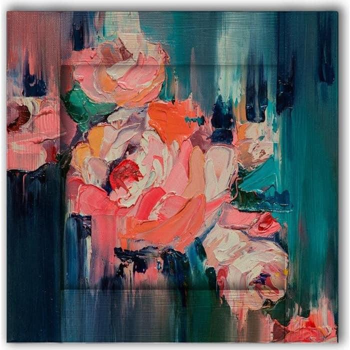 Картина с арт рамой Дом Корлеоне Розы 55x55 см настенное зеркало дом корлеоне зеленая долина 55x55 см