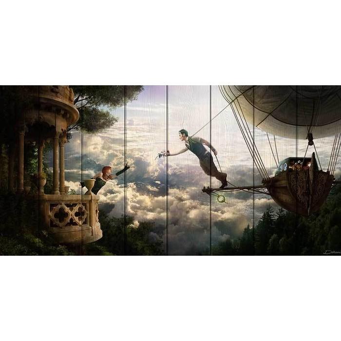 Картина на дереве Дом Корлеоне Романтика 100x200 см
