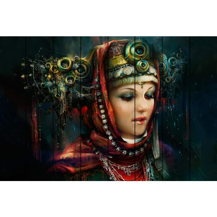 Картина на дереве Дом Корлеоне Русская красавица 60x90 см
