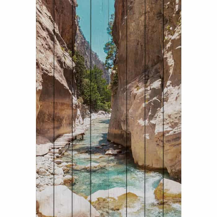 Картина на дереве Дом Корлеоне Самарийской ущелье Крит 100x150 см