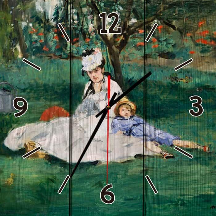 Настенные часы Дом Корлеоне Семья Моне 60x60 см настенные часы дом корлеоне лодочники в венеции 60x60 см