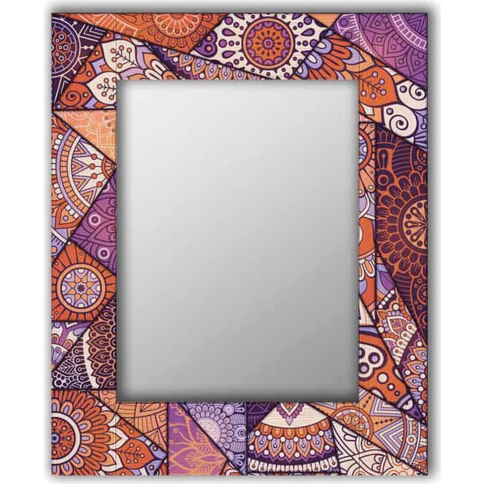 Настенное зеркало Дом Корлеоне Сиреневый калейдоскоп 80x80 см
