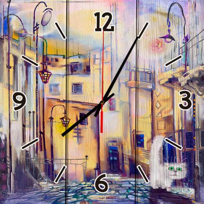 Настенные часы Дом Корлеоне Сказочный город 50x50 см
