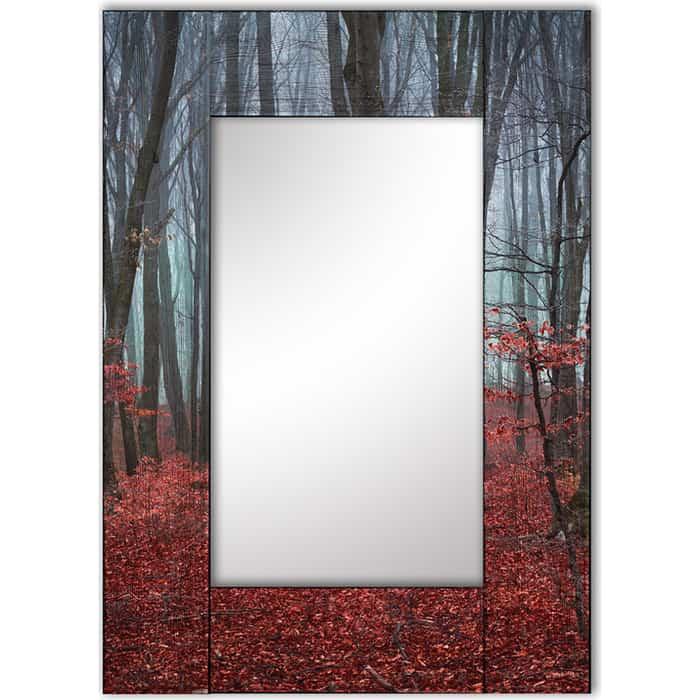 Настенное зеркало Дом Корлеоне Сказочный лес 80x80 см