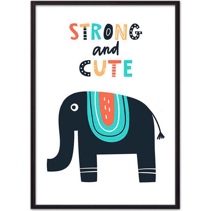 Постер в рамке Дом Корлеоне Слон Strong & cute 30x40 см