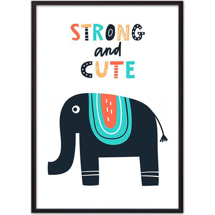 Постер в рамке Дом Корлеоне Слон Strong & cute 40x60 см