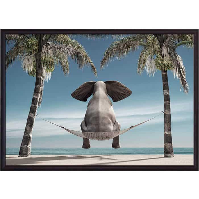 Постер в рамке Дом Корлеоне Слон на отдыхе 40x60 см