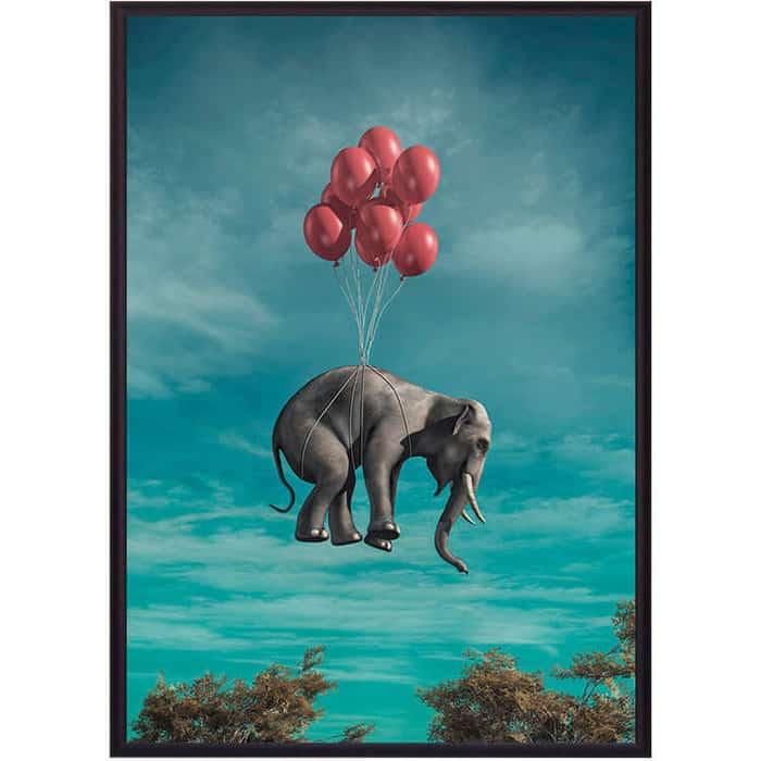 Постер в рамке Дом Корлеоне Слон с шариками 40x60 см