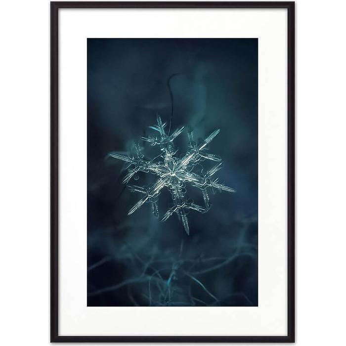 Постер в рамке Дом Корлеоне Снежинка 40x60 см