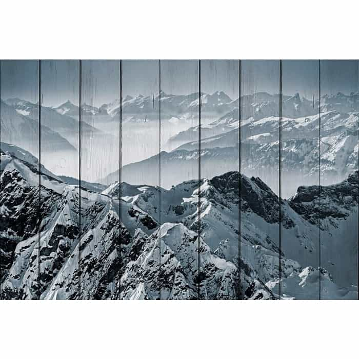 Картина на дереве Дом Корлеоне Снежные вершины 80x120 см