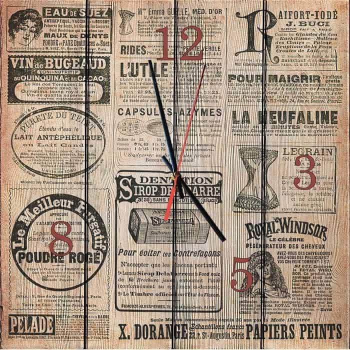 Настенные часы Дом Корлеоне Старая газета 50x50 см