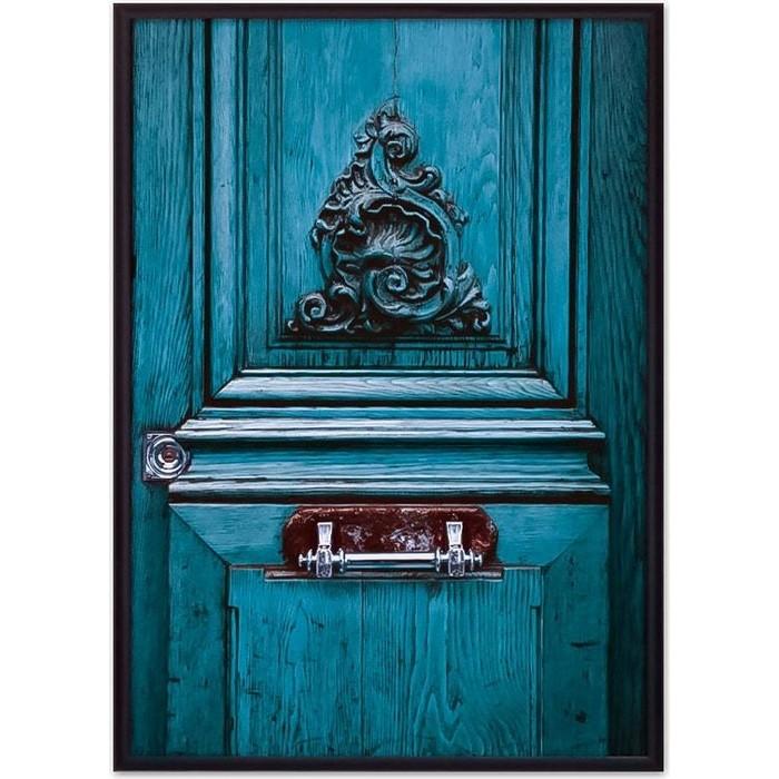 Фото - Постер в рамке Дом Корлеоне Старинная дверь Париж 40x60 см постер в рамке дом корлеоне гаргулья париж 40x60 см
