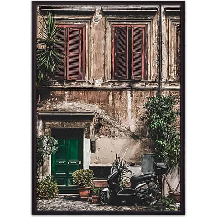 Постер в рамке Дом Корлеоне Старинный дом Рим 50x70 см
