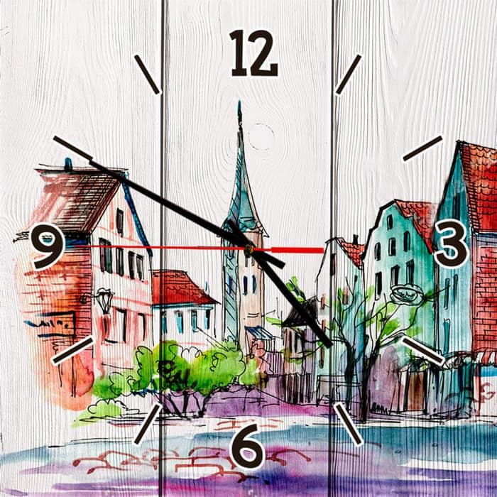 Настенные часы Дом Корлеоне Старый город 40x40 см