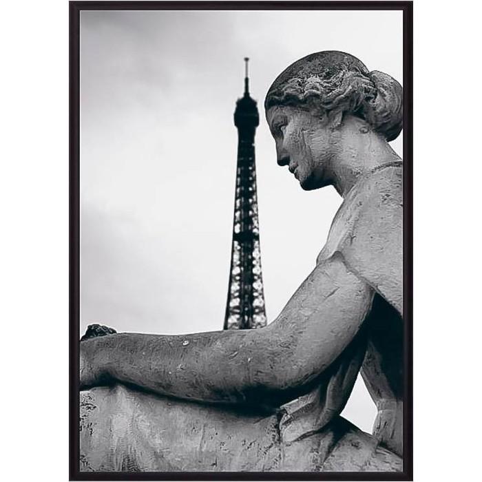 Постер в рамке Дом Корлеоне Статуя женщины Париж 50x70 см
