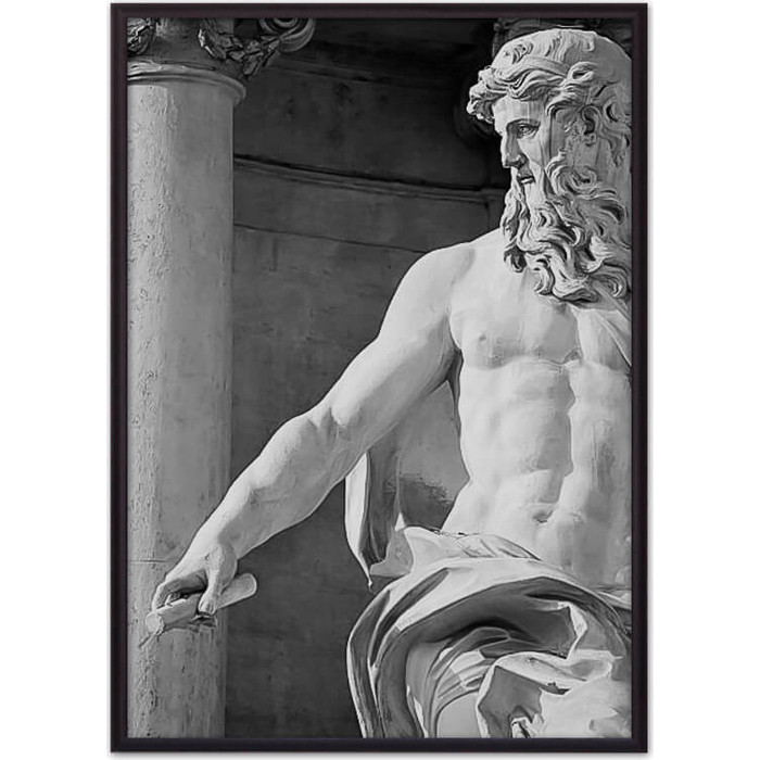 Постер в рамке Дом Корлеоне Статуя Нептуна 30x40 см
