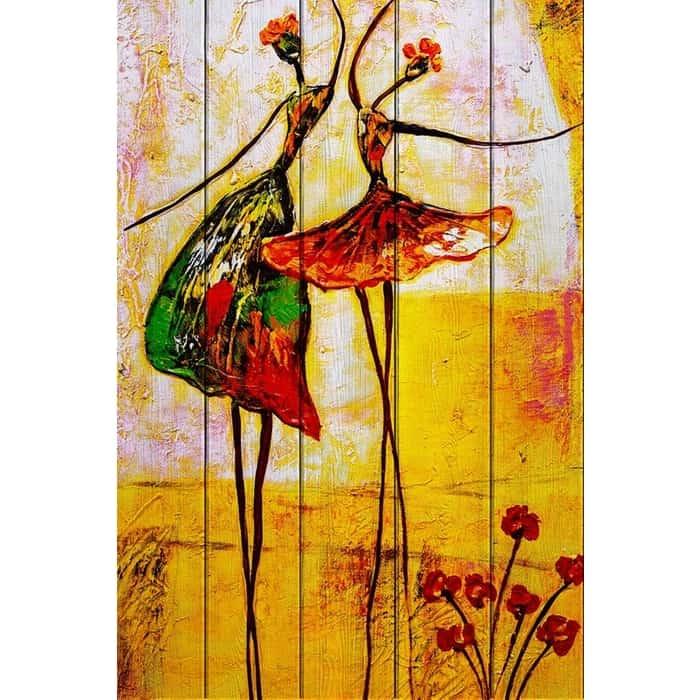 Фото - Картина на дереве Дом Корлеоне Танцовщицы 100x150 см картина на дереве дом корлеоне красные зонтики 100x150 см