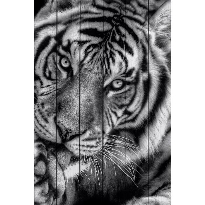 Картина на дереве Дом Корлеоне Тигр 100x150 см