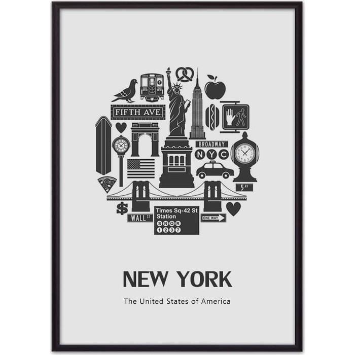 Постер в рамке Дом Корлеоне Тур по Нью-Йорку 50x70 см