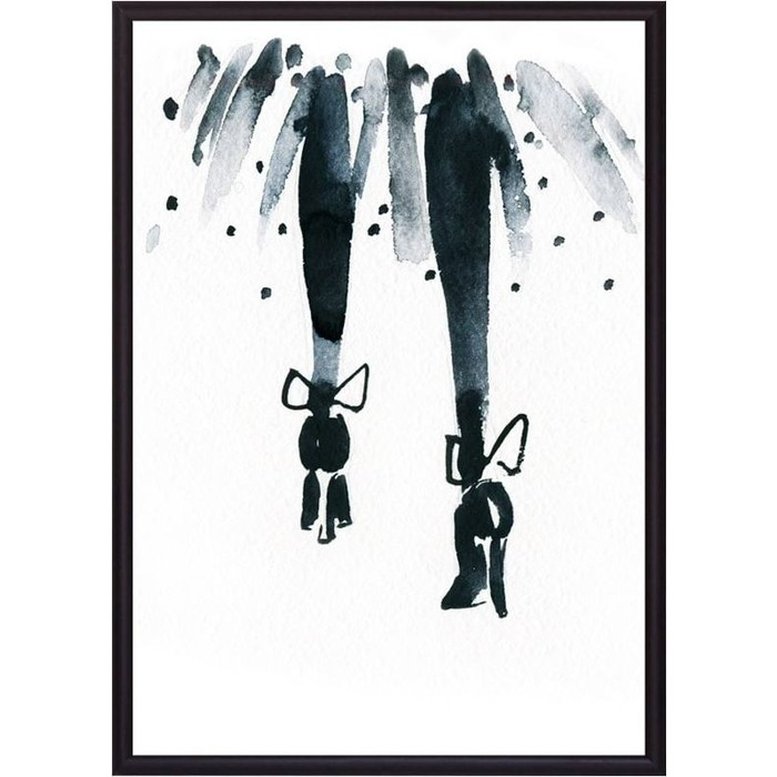 Постер в рамке Дом Корлеоне Туфли с бабочками 50x70 см
