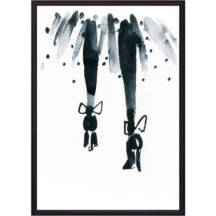 Постер в рамке Дом Корлеоне Туфли с бабочками 40x60 см