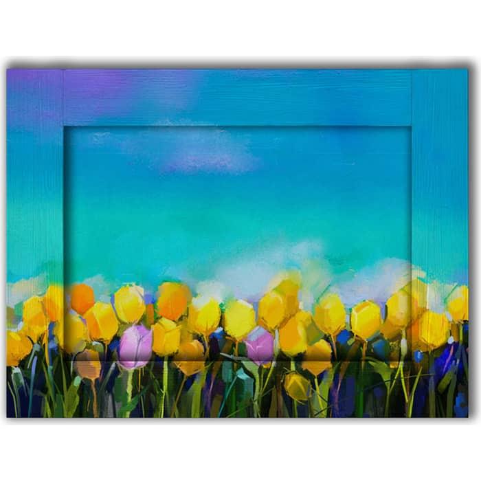 Картина с арт рамой Дом Корлеоне Тюльпаны 80x100 см картина с арт рамой дом корлеоне прогулка 80x100 см