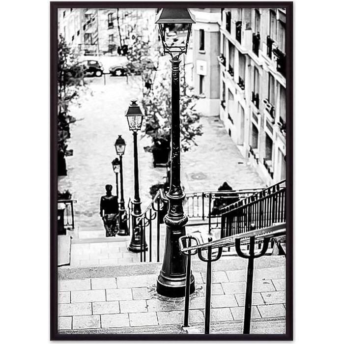 Постер в рамке Дом Корлеоне Улочка Монмартр 21x30 см