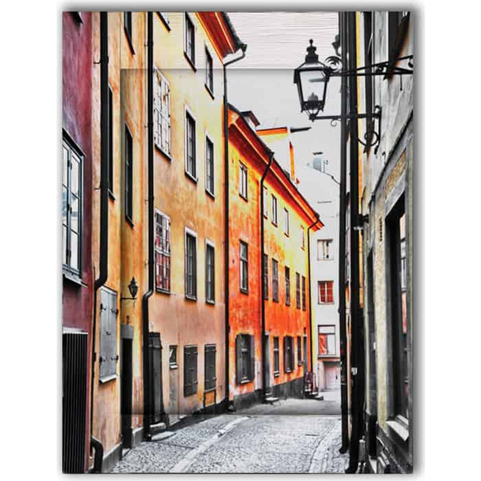 Картина с арт рамой Дом Корлеоне Улочки Стокгольма 70x90 см