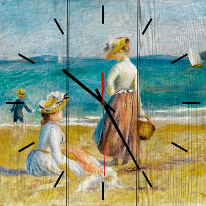 Настенные часы Дом Корлеоне Фигуры на пляже 40x40 см