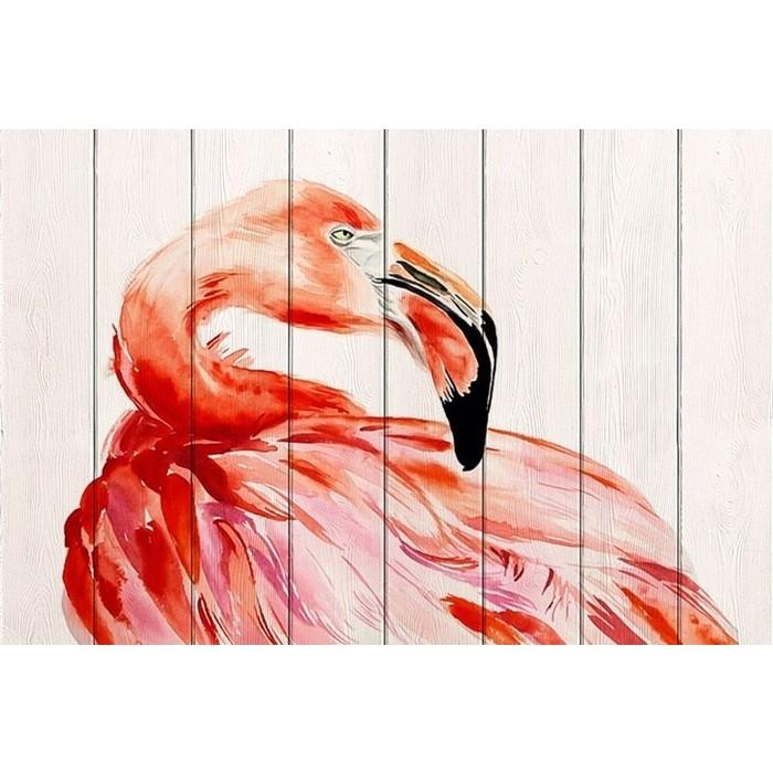 Картина на дереве Дом Корлеоне Фламинго 80x120 см картина на дереве дом корлеоне хамелеон 80x120 см