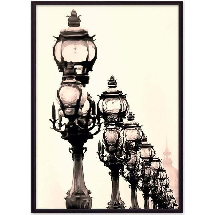 Постер в рамке Дом Корлеоне Фонари Париж 21x30 см