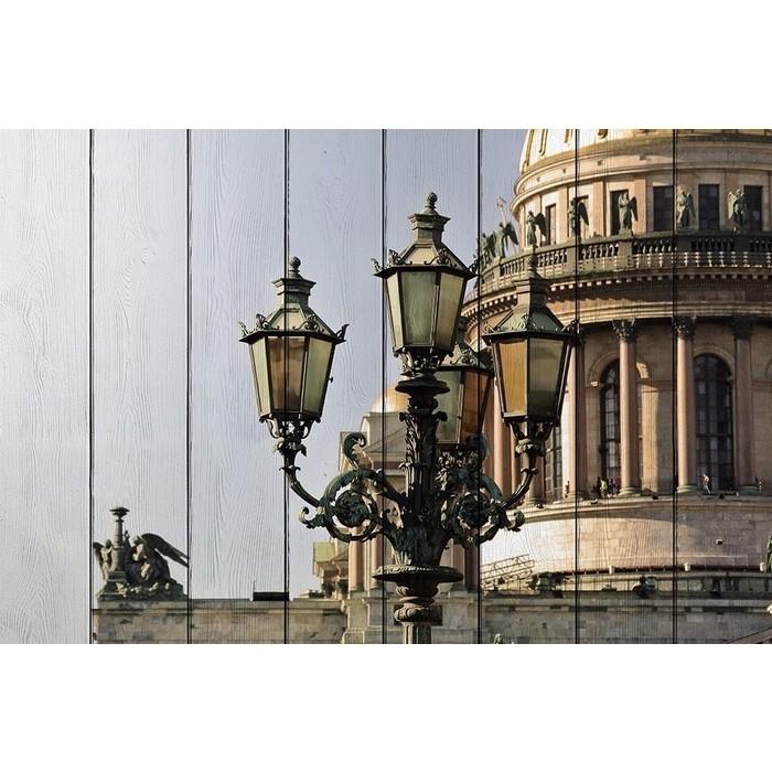 Картина на дереве Дом Корлеоне Фонари Санкт-Петербурга 100x150 см