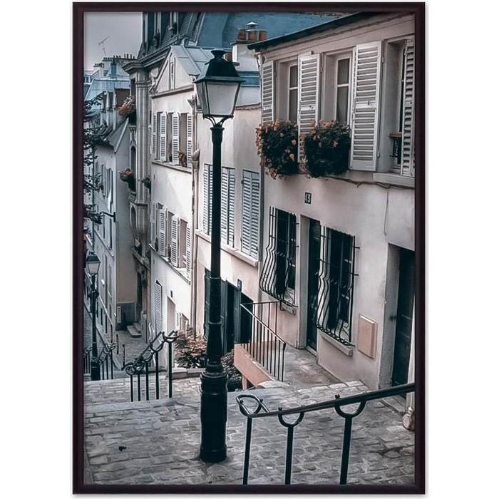 Постер в рамке Дом Корлеоне Фонарь Монмартр 40x60 см