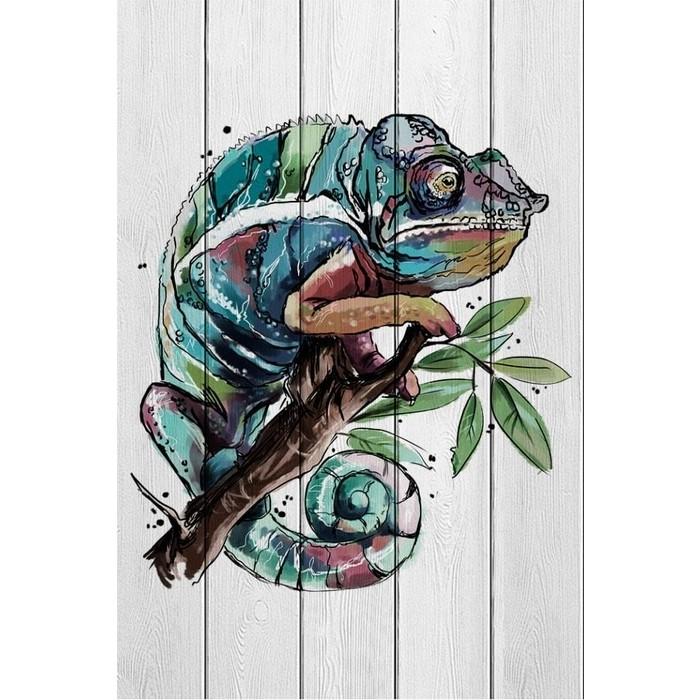 Картина на дереве Дом Корлеоне Хамелеон 80x120 см картина на дереве дом корлеоне хамелеон 80x120 см